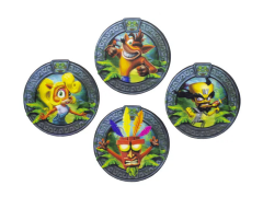 Crash Bandicoot 3D Coasters Four-Pack