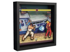 Street Fighter Pixel Frames Boat Scene (9x9)