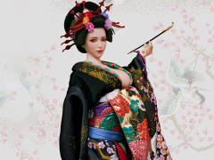 Oiran Ichiya (Black Furisode) 1/6 Scale Accessory Set