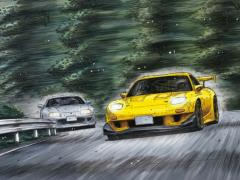 Initial D Keisuke Takahashi's FD3S RX-7 (Project D Ver.) 1/24 Scale Model Kit