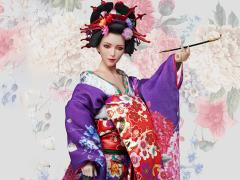 Oiran Ichiya (Purple Furisode) 1/6 Scale Accessory Set