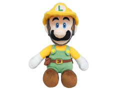 "Super Mario Builder Luigi 10"" Plush"