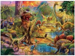 Dino Landscape Glow-in-the-Dark 100-Piece Puzzle