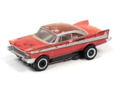 Christine Silver Screen Machines 1958 Plymouth Fury Thunderjet Slot Car