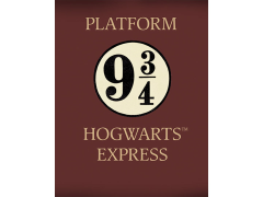 Harry Potter Platform 9 and 3/4 Tin Sign