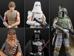 "Star Wars 40th Anniversary The Black Series 6"" Wave 36 Set of 5 Figures"