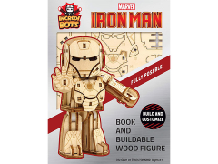 Marvel IncrediBots Iron Man Comic Book & 3D Wood Model