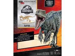 Jurassic World IncrediBuilds Raptor Book & 3D Wood Model