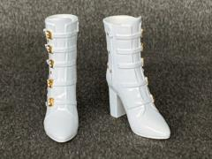 High Heel Boots (White) 1/6 Scale Accessory Set