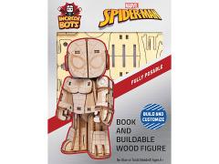 Marvel IncrediBots Spider-Man Comic Book & 3D Wood Model