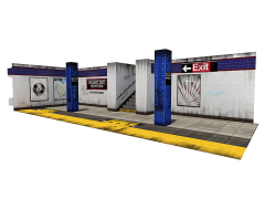Subway Terminal (3.0) 1/12 Scale Pop-Up Diorama