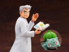 Pokemon ArtFX J Professor Oak with Bulbasaur Statue