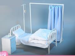 Patient Bed 1/6 Scale Accessory Set