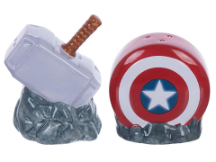 Marvel Captain American Shield & Thor Mjolnir Salt & Pepper Set
