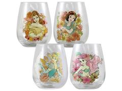 Disney Princess Set of 4 Contour Glasses