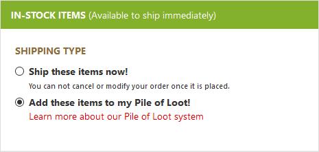 Pile of Loot Step 1