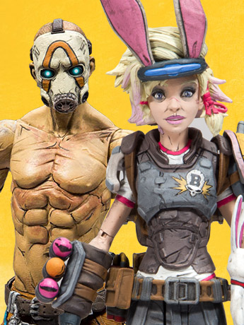 Borderlands Psycho and Tiny Tina Action Figures