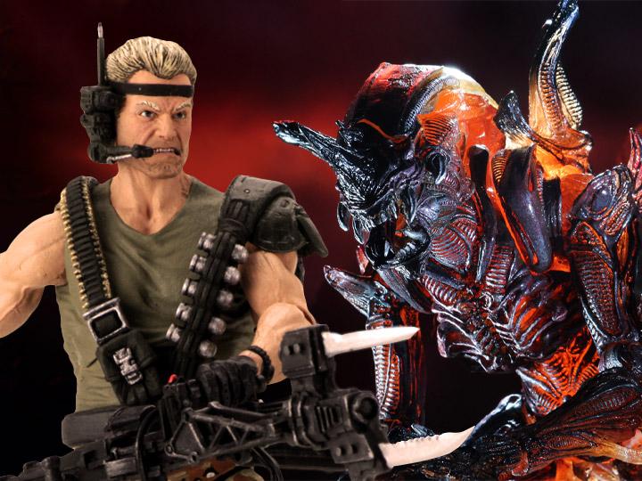 NECA Aliens: Space Marine Drake & Ultimate Rhino Alien