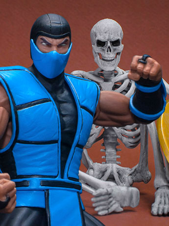 Storm Collectibles: Mortal Kombat 3 Sub-Zero & Golden Axe Skeleton Soldiers
