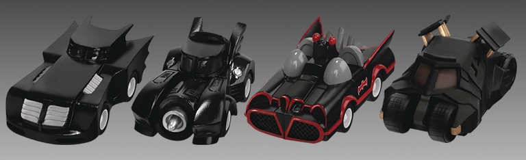 Batman 80th Pullback Batmobiles
