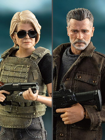 Terminator: Dark Fate Sarah Connor & T-800 1/12 Scale Figures