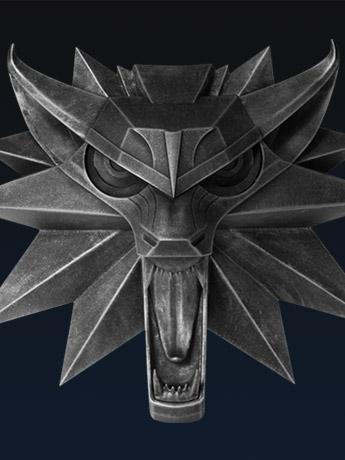 Witcher III Wild Hunt Wolf Wall Sculpture