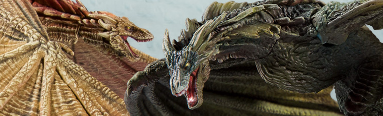 Game of Thrones Dragons Rhaegal & Viserion