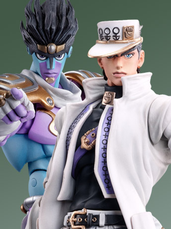 JoJo Super Action Statue Jotaro Kujo & Star Platinum