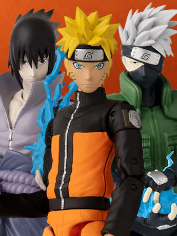 Naruto Anime Heroes Wave 1 Set of 3 Figures