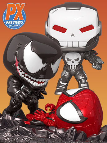 Funko Pop! Punisher War Machine & Venom Vs. Spider-Man PX Previews Exclusives