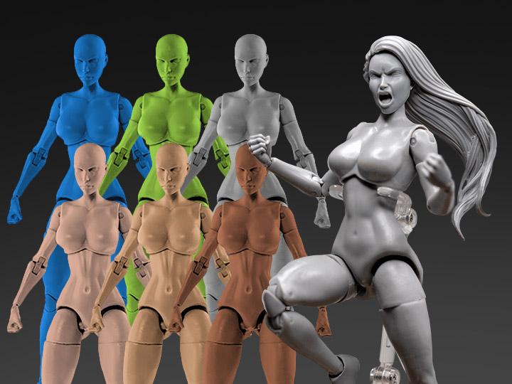 Jane Doe Superheroine 1/10 & 1/12 Scale BBTS Exclusive Athletic Bodies
