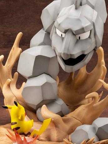 Pokemon ArtFX J Onix Vs. Pikachu Statue