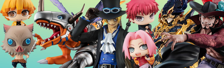 MegaHouse: Digimon, One Piece, Yu-Gi-Oh!, Demon Slayer,  Naruto
