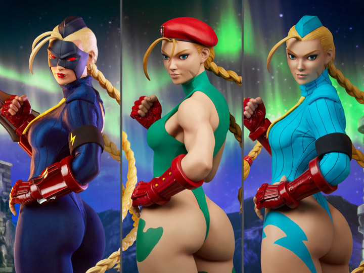 Street Fighter Cammy & Decapre Statues