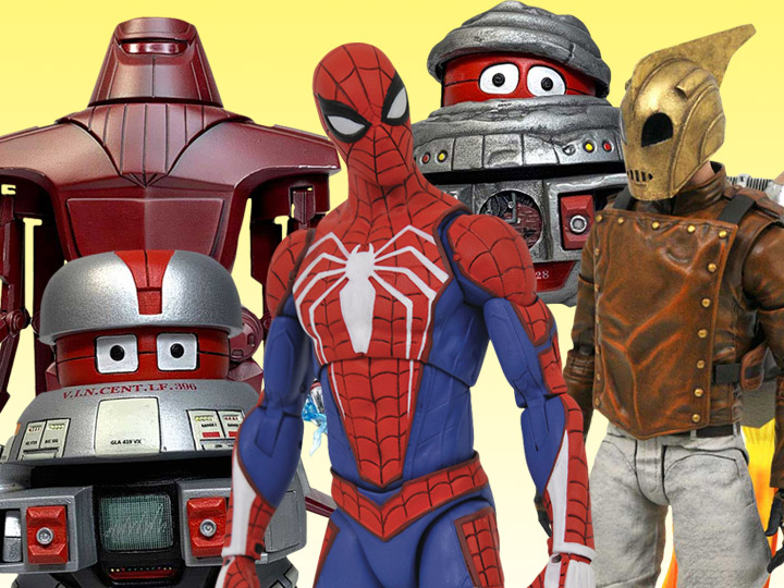 In Stock: Select Series: Spider-Man, Rocketeer, Disney Classics