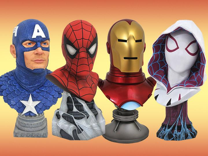 Marvel Legends in 3D Busts