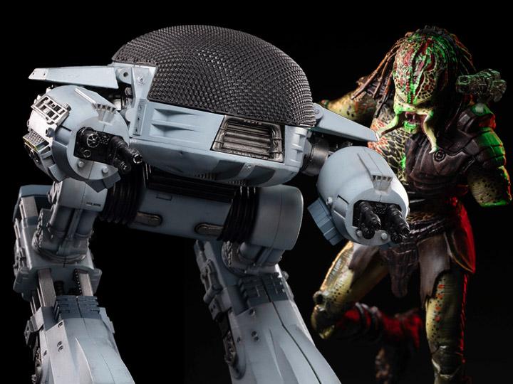 Hiya Toys 1:18 RoboCop ED-209 & Predator