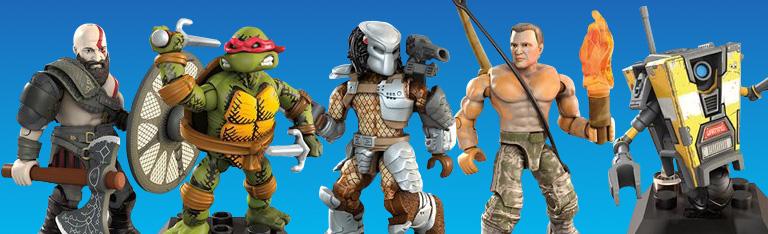 In Stock: Mega Construx Heroes Wave 2 (TMNT, Predator, God of War, Borderlands)