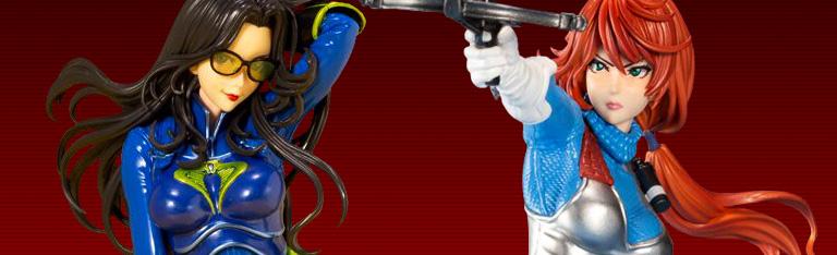 G.I. Joe Bishoujo Scarlett (Sky Blue Color) & Baroness (Blue Color) 25th Anniversary Edition