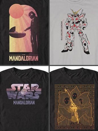 T-Shirts: The Mandalorian & Gundam