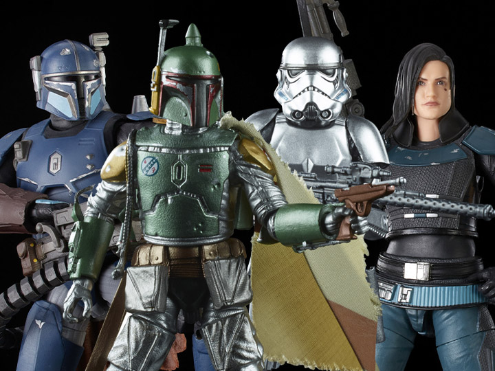 Star Wars: The Black Series Carbonized Boba Fett & Stormtrooper, Heavy Infantry Mandalorian