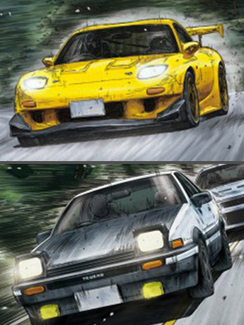 Initial D 1/24 Scale Model Kits
