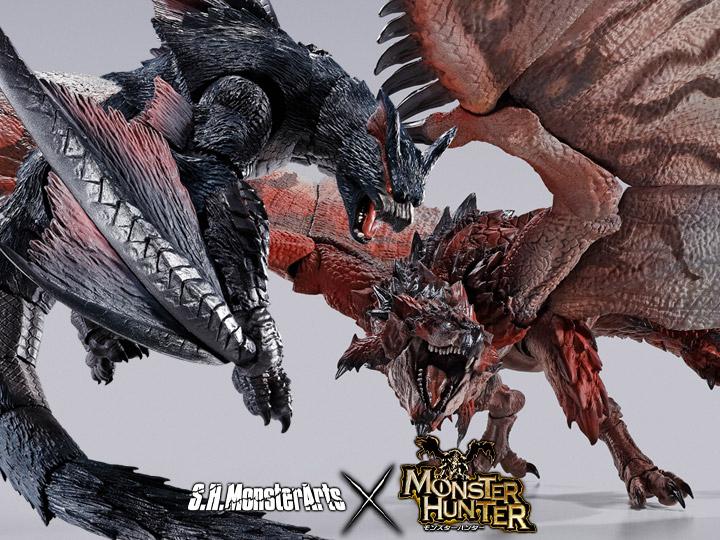 Monster Hunter S.H.MonsterArts Rathalos & Nargacuga
