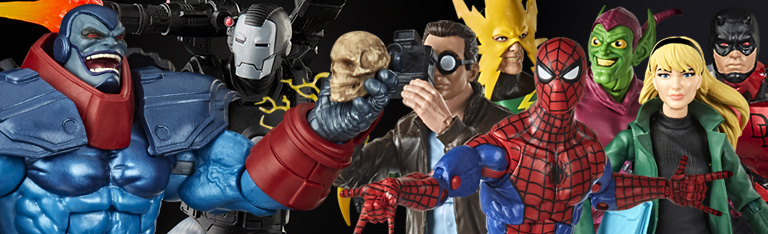 Marvel Legends: Apocalypse, War Machine, Spider-Man Retro Legends