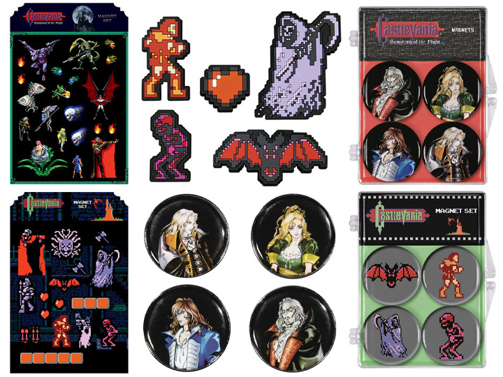 Castlevania Magnets & Pins!
