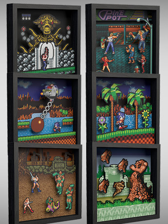 Pixel Frames: Contra, Sonic, Streets of Rage, Golden Axe