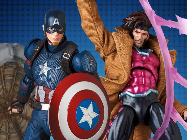 MAFEX Captain America (Endgame) & X-Men Gambit