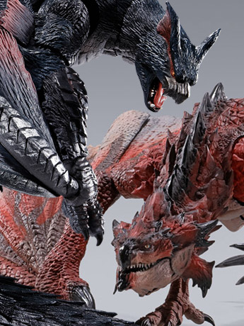Monster Hunter S.H.MonsterArts Rathalos & Nargacuga