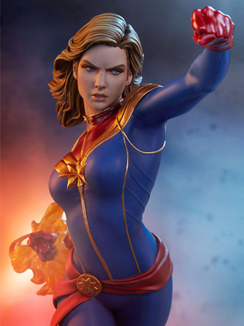Avengers Assemble Statue Collection Captain Marvel Statue