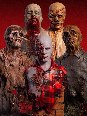 Trick or Treat Zombie Busts